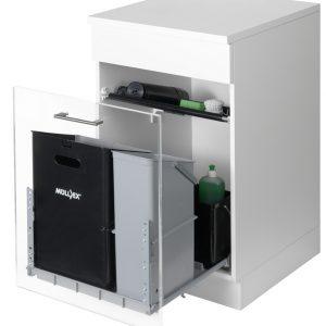 Mullex Comfort 35/17/4/4, afvalsysteem voor Frontuittreksysteem, zwart/lichtgrijs