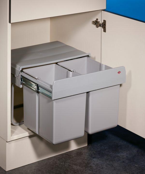 Double Shorty 1, Afvalverzamelsystemen voor draaideuren., alu grijs