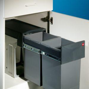 Hailo Tandem 7, Afvalsysteem voor deuren, grafietgrijs