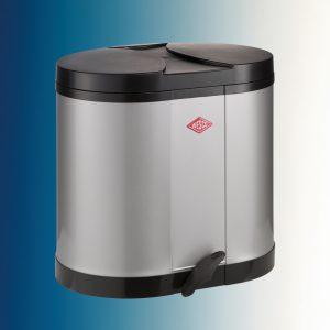 Beta, afvalsysteem voor vrijstaande container, zilver