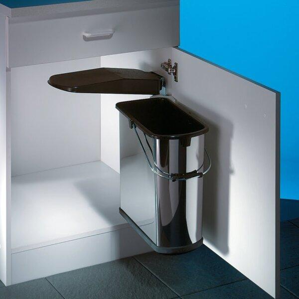 Hailo Vario 4, afvalsysteem voor deuren, roestvrij staal