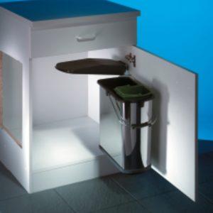 Hailo Vario 4 plus, afvalsysteem voor deuren, roestvrij staal