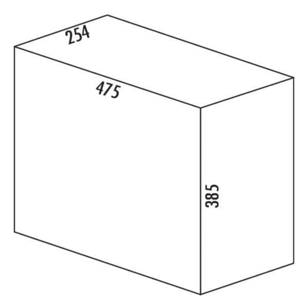 Double 3, Afvalverzamelsystemen voor draaideuren., alu grijs