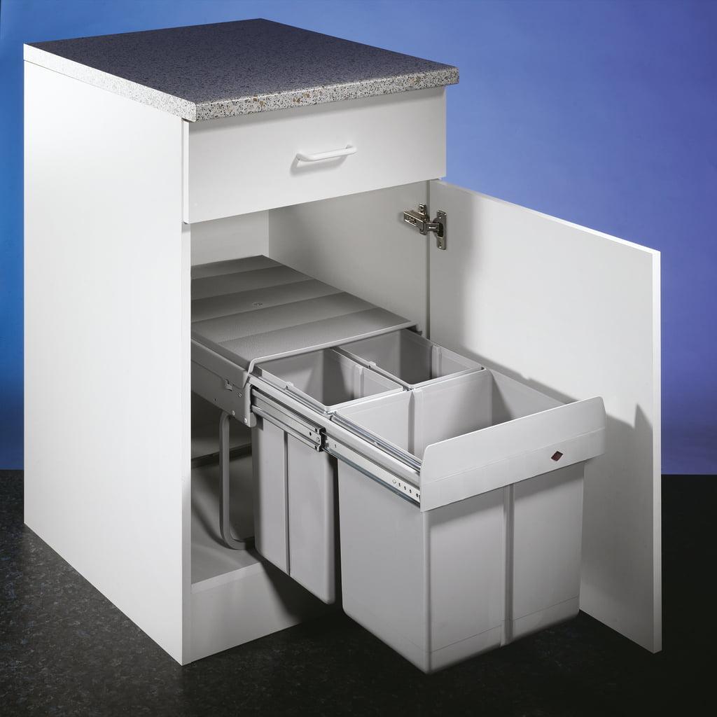 HAILO Trenta 6, Afvalsysteem voor deuren, alu grijs