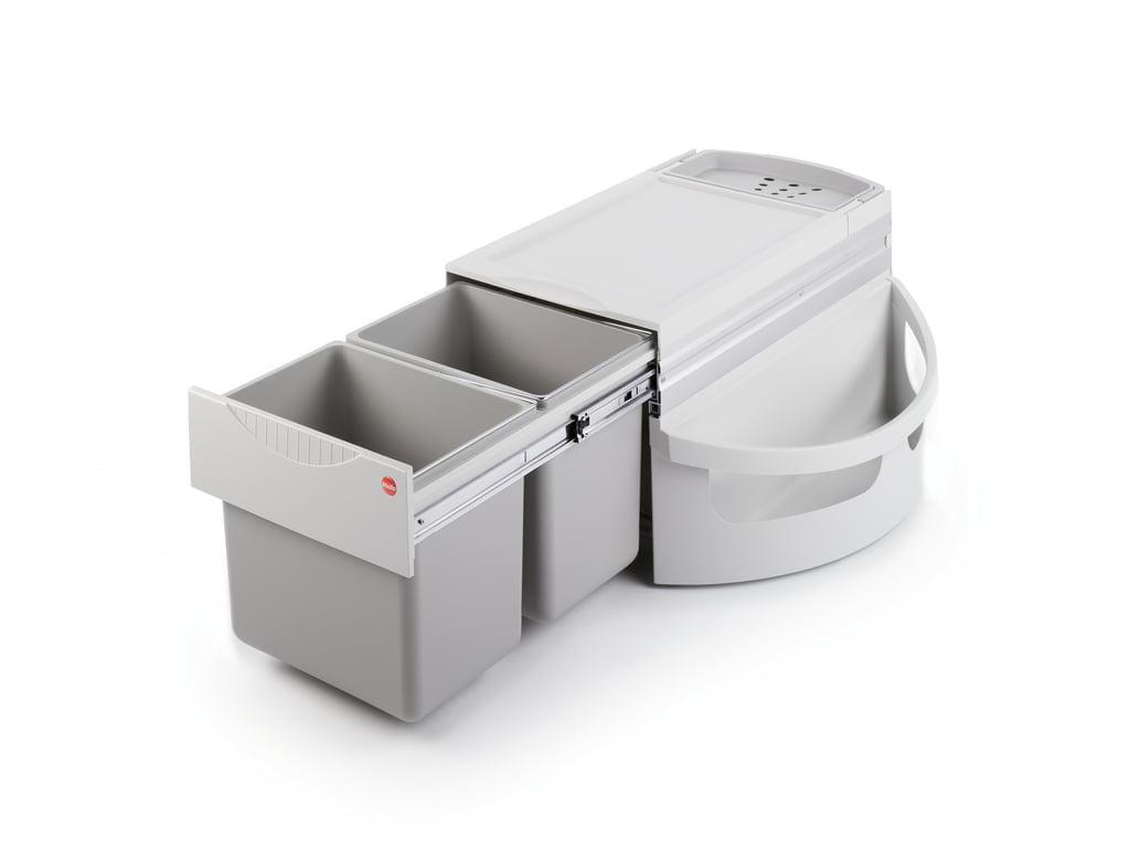 Hailo Rondo 1 plus, afvalsysteem voor hoekkasten, lichtgrijs