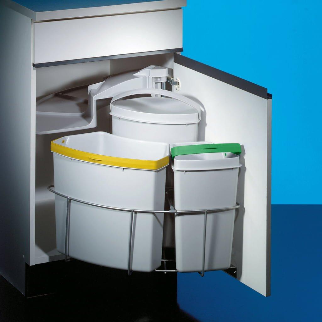 Cabbi® 3, afvalsysteem voor deuren, lichtgrijs
