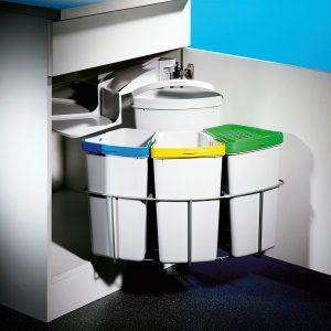 Cabbi® 4 plus, afvalsysteem voor deuren, lichtgrijs