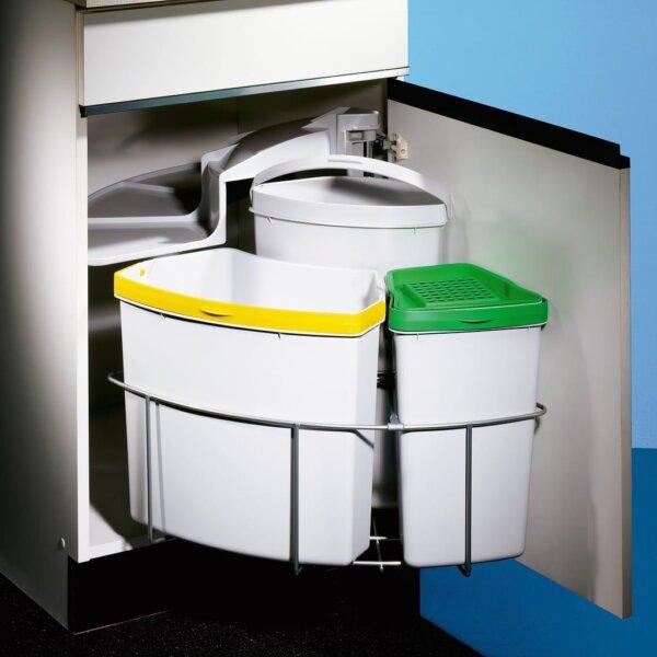 Cabbi® 3 plus, afvalsysteem voor deuren, lichtgrijs