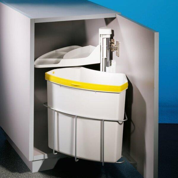 Cabbi® junior 1, afvalsysteem voor deuren, lichtgrijs