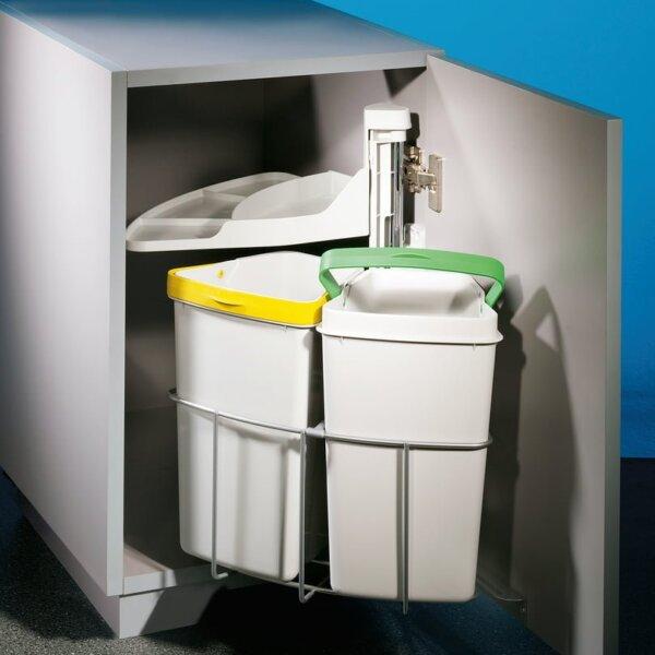 Cabbi® junior 2, Afvalsysteem voor deuren, lichtgrijs
