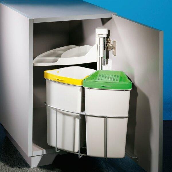 Cabbi® junior 2 plus, Afvalsysteem voor deuren, lichtgrijs