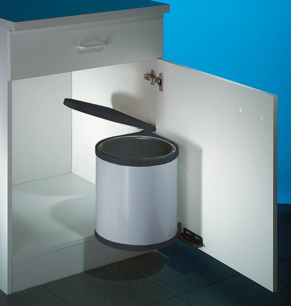 Wesco Rondo 1, afvalsysteem voor deuren, zilver