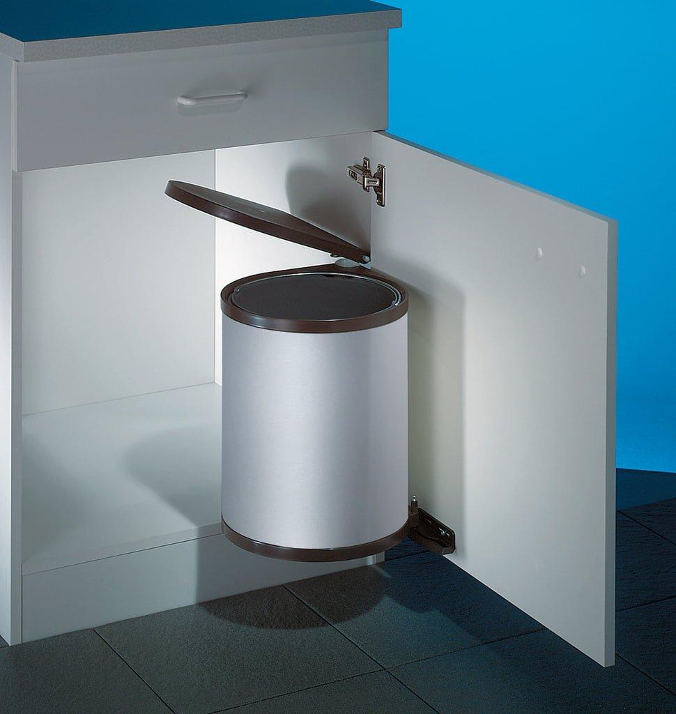 Wesco Rondo 2, afvalsysteem voor deuren, zilver
