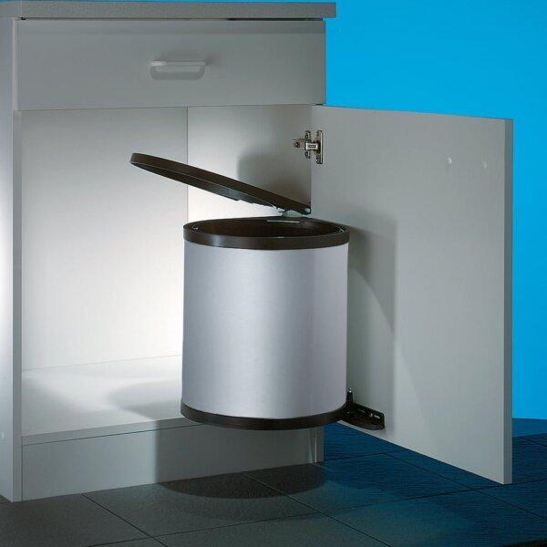 Wesco Rondo 3, afvalsysteem voor deuren, zilver