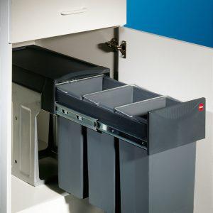 HAILO Trenta 8, Afvalsysteem voor deuren, grafietgrijs