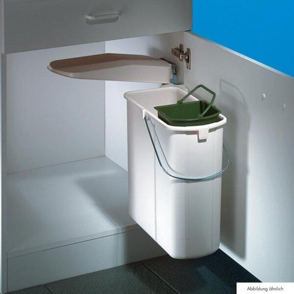 Hailo Vario 1 plus, afvalsysteem voor deuren, alu grijs