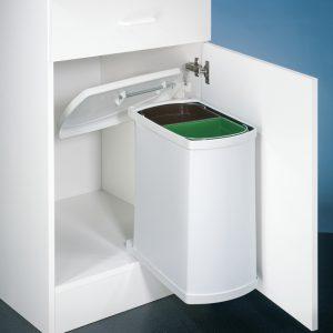 Hailo Duo 3416, afvalsysteem voor deuren, wit