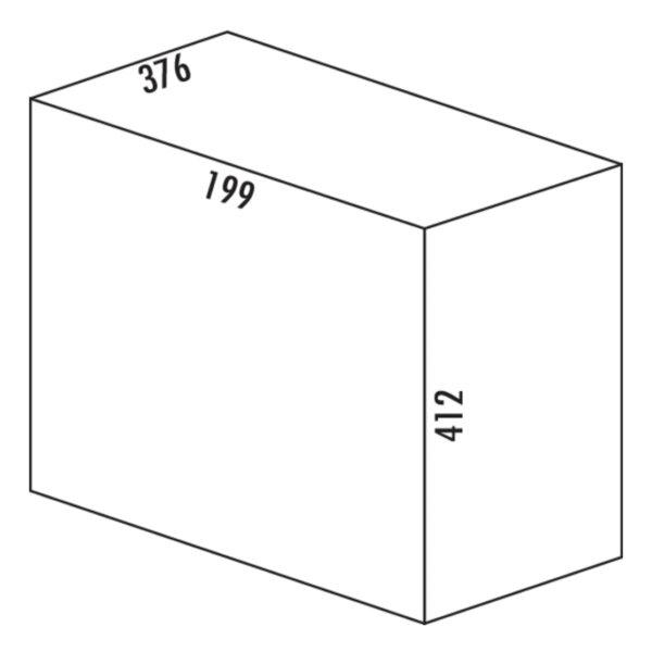 Duo 3416, Afvalverzamelsysteem voor Zwenktechniek., wit