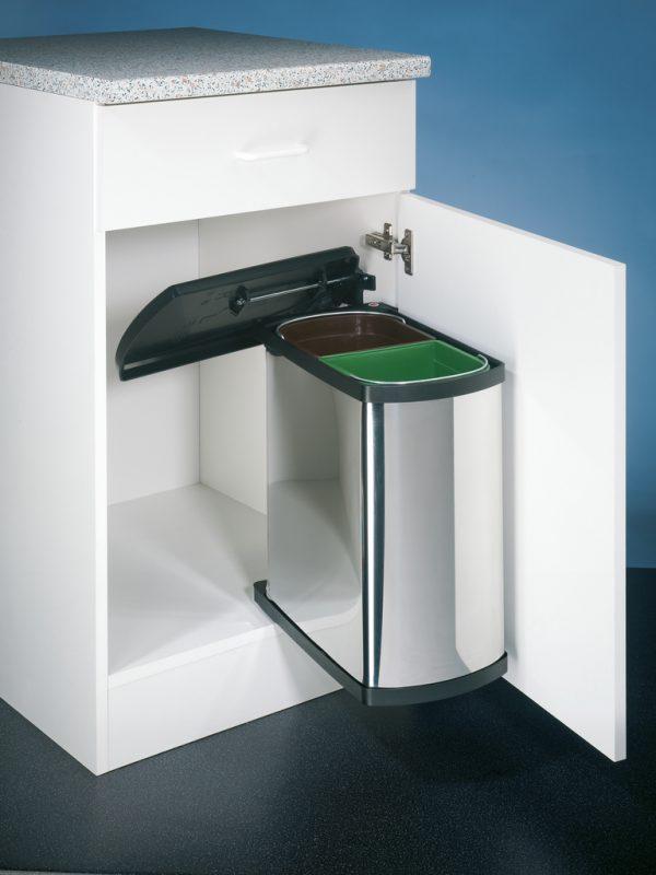 Duo 3416, afvalsysteem voor deuren, roestvrij staal