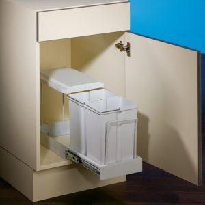 Clax® 1/300-2, Afvalsysteem voor deuren, alu grijs