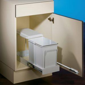 Clax® 1 plus/300-1, Afvalsysteem voor deuren, alu grijs