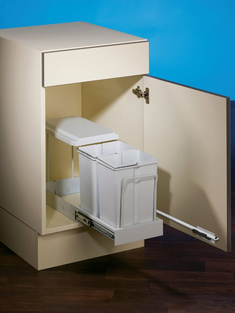 Clax® 1 plus/300-2, Afvalsysteem voor deuren, alu grijs