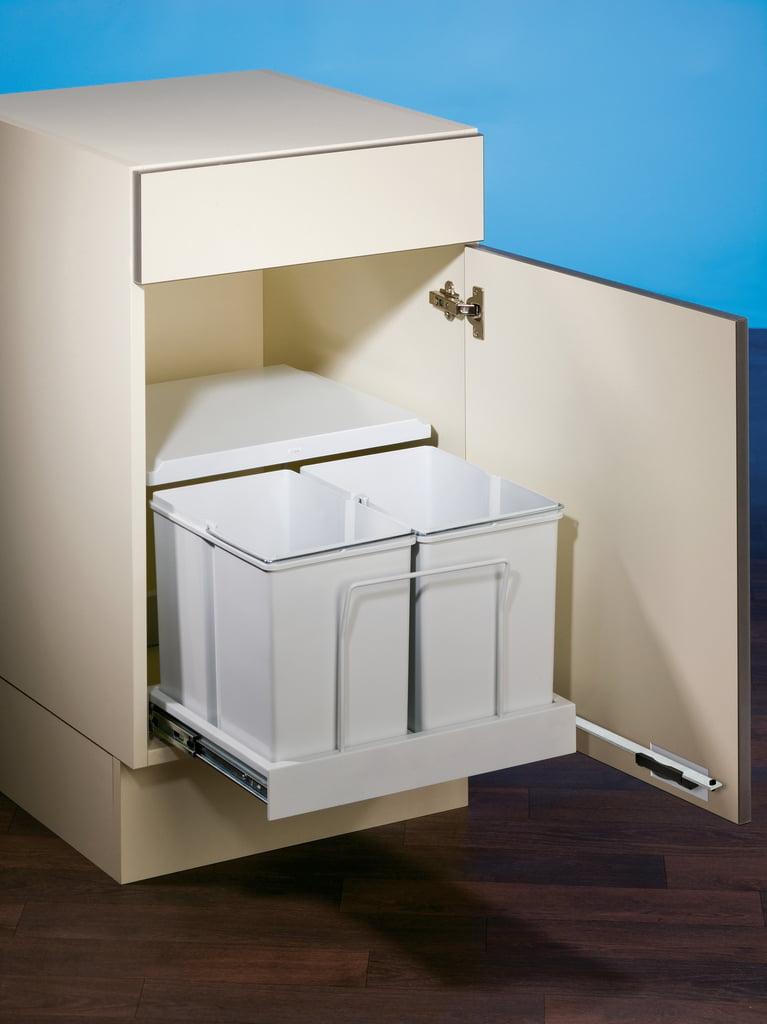 Clax® 3 plus/500-2, Afvalsysteem voor deuren, alu grijs