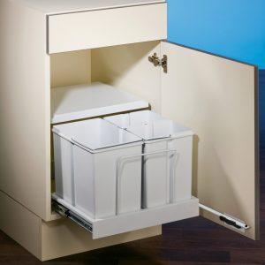 Clax® 3 plus/500-3, Afvalsysteem voor deuren, alu grijs