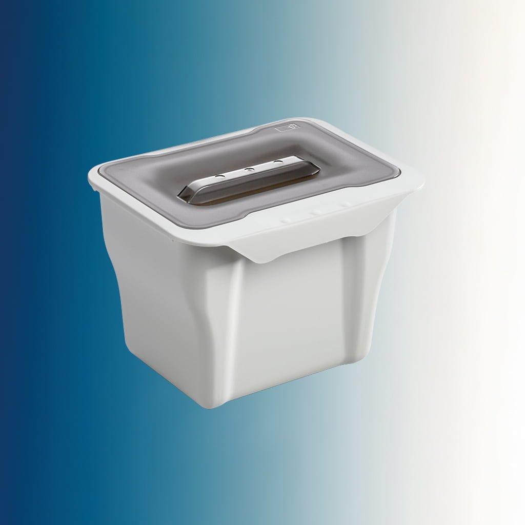 Kitchen Box, Afvalverzamelsystemen voor draaideuren., alu grijs