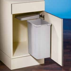 Bio Single DT, afvalsysteem voor deuren, alu grijs