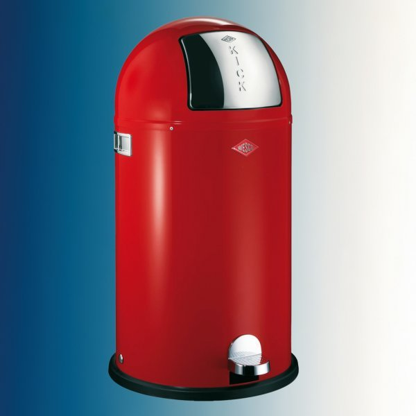 Kickboy, afvalsysteem voor vrijstaande container, rood