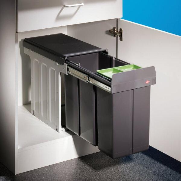 Bio Double 30 DT, Afvalsysteem voor deuren, met bio-deksel , antraciet