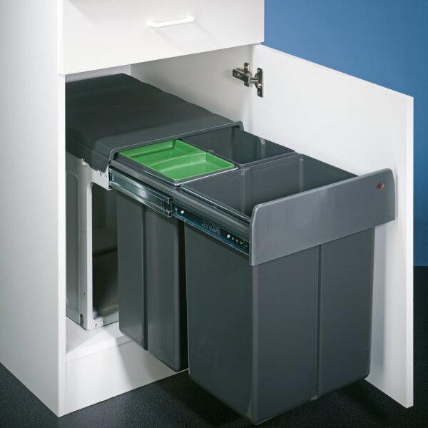Bio Trio Maxi 40 DT, Afvalsysteem voor deuren, antraciet