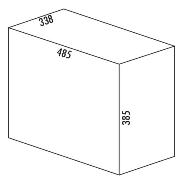Bio Trio Maxi 40 DT, Afvalverzamelsystemen voor draaideuren., antraciet