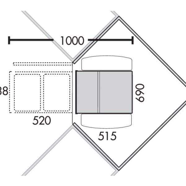 Corner Boy 2 (voor diagonale hoekkasten), Afvalverzamelsysteem voor corner Kasten., alu grijs