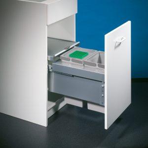 Cox® Base 360 S/400-2, afvalsysteem voor Frontuittreksysteem, zonder biologisch deksel, lichtgrijs, H 360 mm