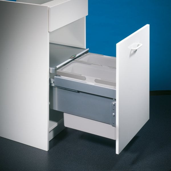 Cox® Base 360 S/450-2, afvalsysteem voor Frontuittreksysteem, lichtgrijs, H 360 mm