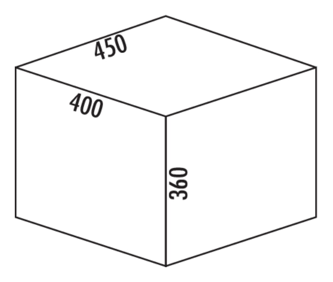Coxィ Base 360 S/450-2, Afvalverzamelsysteem voor Frontuittreksysteem., lichtgrijs, H 360 mm