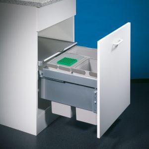 Cox® Base 360 S/500-3, afvalsysteem voor Frontuittreksysteem, zonder biologisch deksel, lichtgrijs, H 360 mm