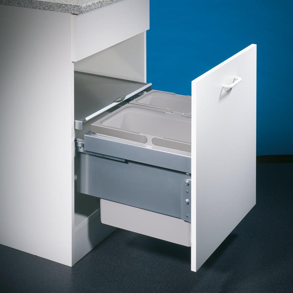 Cox® Base 360 S/500-2, afvalsysteem voor Frontuittreksysteem, lichtgrijs, H 360 mm
