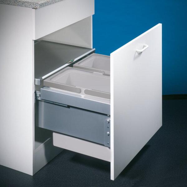 Cox® Base 360 S/600-2, Afvalverzamelaar met frontuittreksysteem, lichtgrijs, H 360 mm