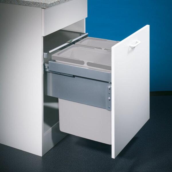 Cox® Base 460 S/500-2, afvalsysteem voor Frontuittreksysteem, lichtgrijs, H 460 mm