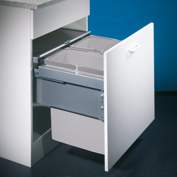 Cox® Base 460 S/600-2, afvalsysteem voor Frontuittreksysteem, lichtgrijs, H 460 mm