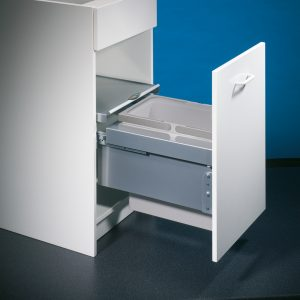 Cox® Base 360 S/400-1, afvalsysteem voor Frontuittreksysteem, lichtgrijs, H 360 mm