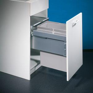 Cox® Base 460 S/400-1, afvalsysteem voor Frontuittreksysteem, lichtgrijs, H 460 mm
