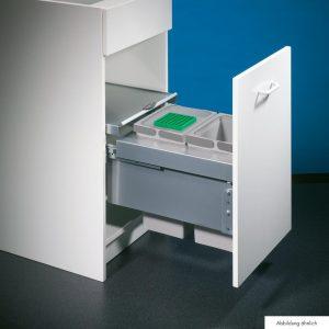 Cox® Base 360 S/400-2, afvalsysteem voor Frontuittreksysteem, met biologisch deksel, lichtgrijs, H 360 mm