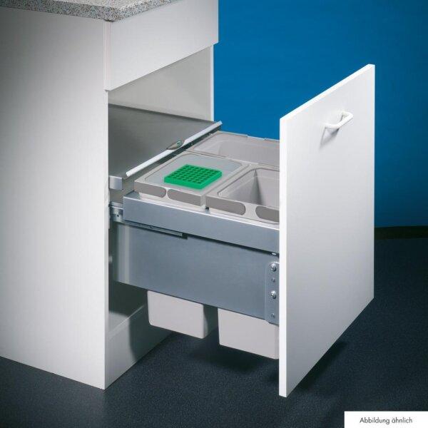 Cox® Base 360 S/500-3, afvalsysteem voor Frontuittreksysteem, met biologisch deksel, lichtgrijs, H 360 mm