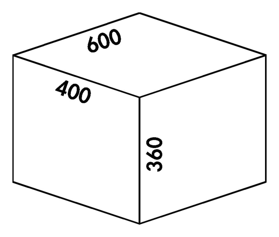 Coxィ Base 360 S/600-4, Afvalverzamelsysteem voor Frontuittreksysteem., zonder biologisch deksel, lichtgrijs, H 360 mm