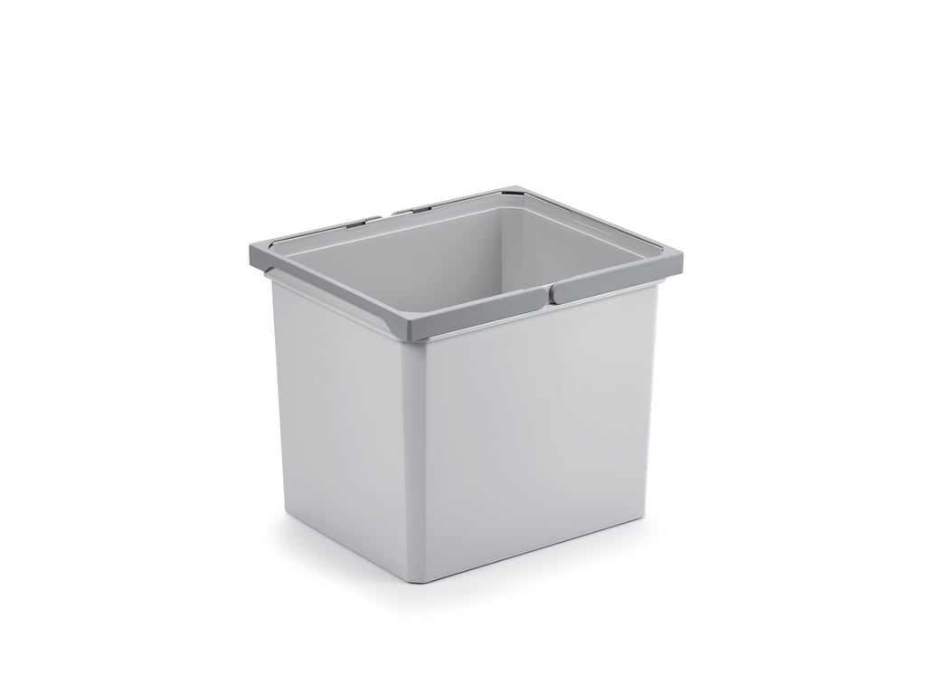 Reserve emmer., lichtgrijs, 29 liter
