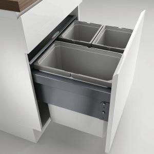 Cox® Base 460 S/600-3, afvalsysteem voor Frontuittreksysteem, lichtgrijs, H 460 mm